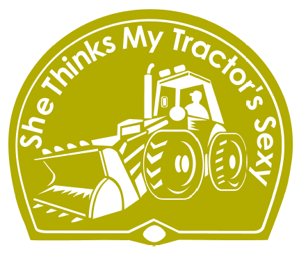 She thinks my tractors sexy graphics