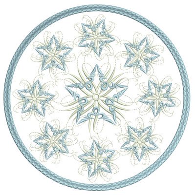 Snow Star Candle Mat 8x8