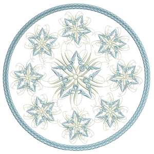 Snow Star Candle Mat 6x6