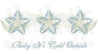 Snow Star Place Mat 7X11