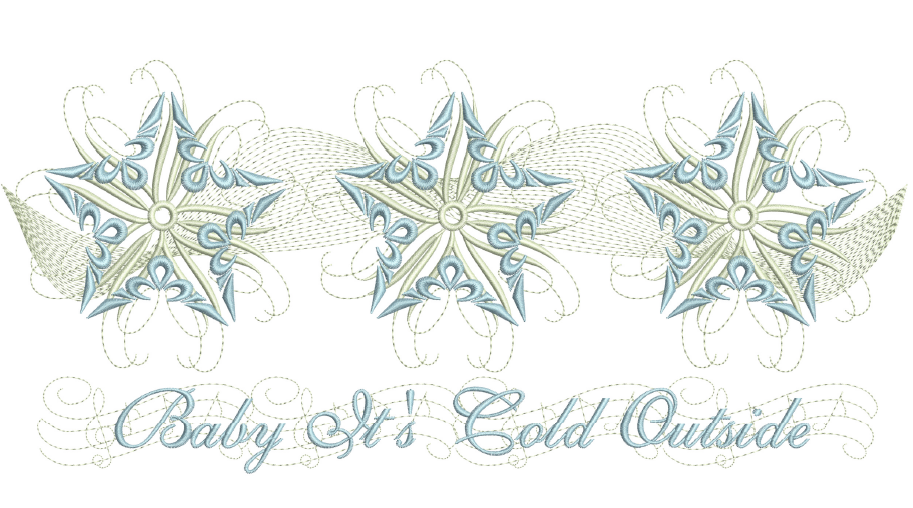 Snow Star Place Mat 8x12
