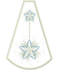 Snow Star In-The-Hoop Mini Tree Skirt 8x12