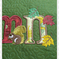 Autumn Joy Applique 5x7