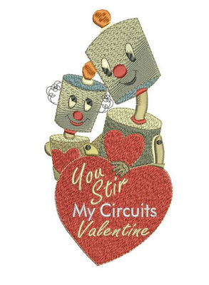 Stir My Circuits Valentine 5X7