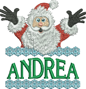 Surprise Santa Name - Andrea