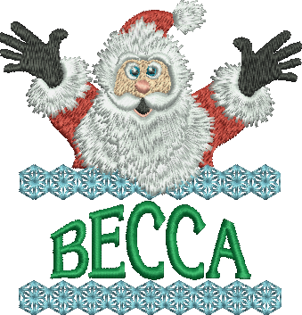 Surprise Santa Name - Becca