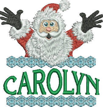 Surprise Santa Name - Carolyn