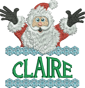 Surprise Santa Name - Claire