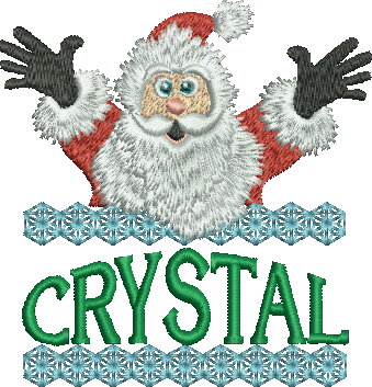 Surprise Santa Name - Crystal