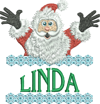 Surprise Santa Name - Linda