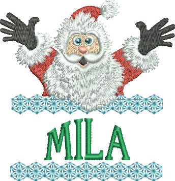 Surprise Santa Name - Mila