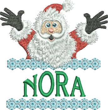 Surprise Santa Name - Nora