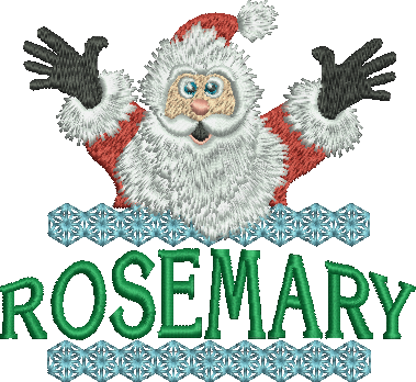 Surprise Santa Name - Rosemary