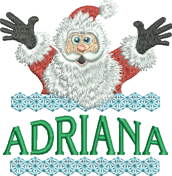 Surprise Santa Name - Adriana