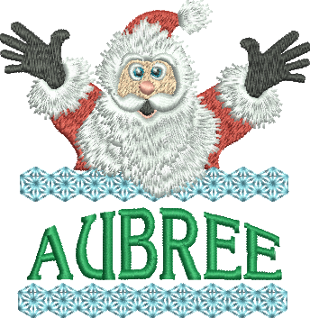 Surprise Santa Name - Aubree