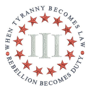 Tyranny & Three Percenter 5x7