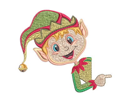 Magic Christmas Pillow Case - White Boy Elf 4x4