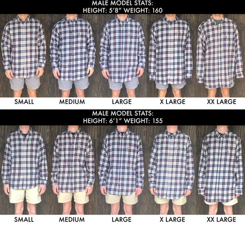 Button Up Size Chart | Brewers Lantern