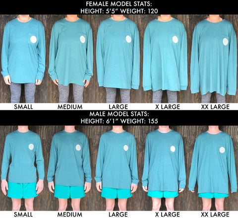 Long Sleeve T-Shirt Size Chart | Brewers Lantern