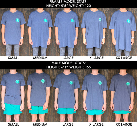 Short Sleeve T-Shirt Size Chart | Brewers Lantern