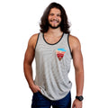 Mt Arrowhead Tank Top - White Raindrop Stripe
