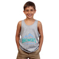 Youth Bright Mountain Tank Top - Stone Mountain