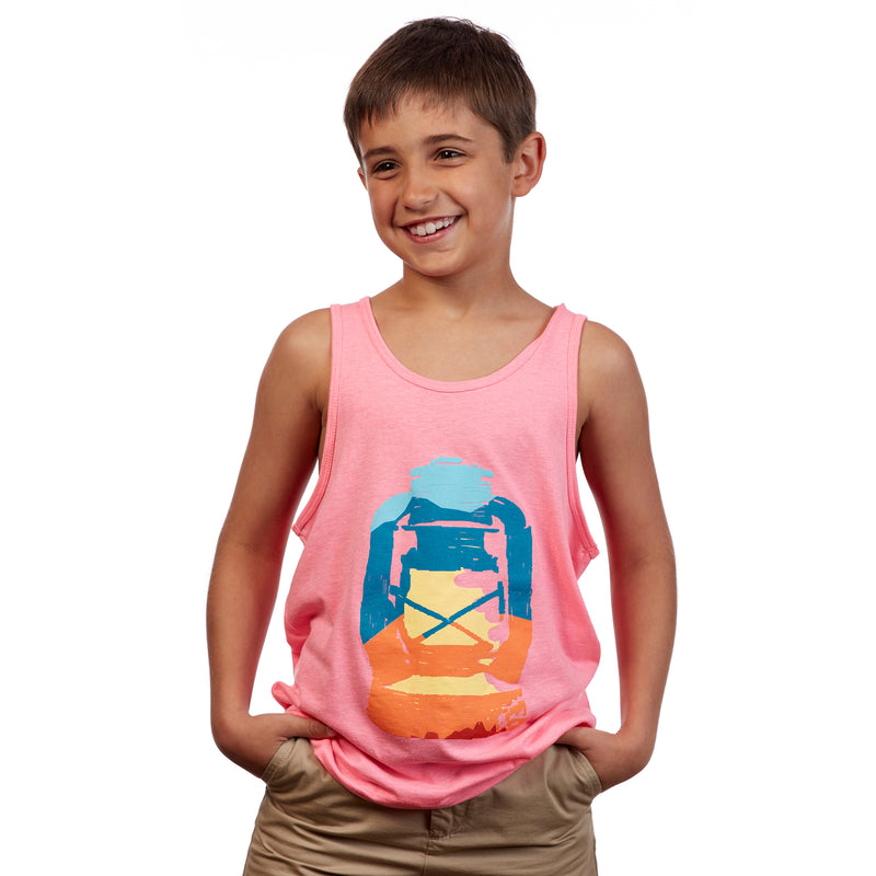Youth Landscape Lantern Tank Top - Raspberry Pink