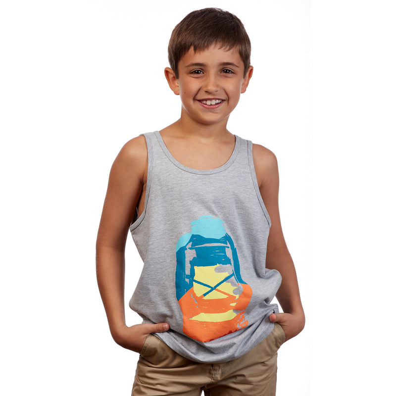 Youth Landscape Lantern Tank Top - Stone Mountain