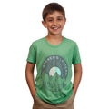 Short Sleeve T-Shirt with Mountain Record Design - Green | Brewer's Lantern