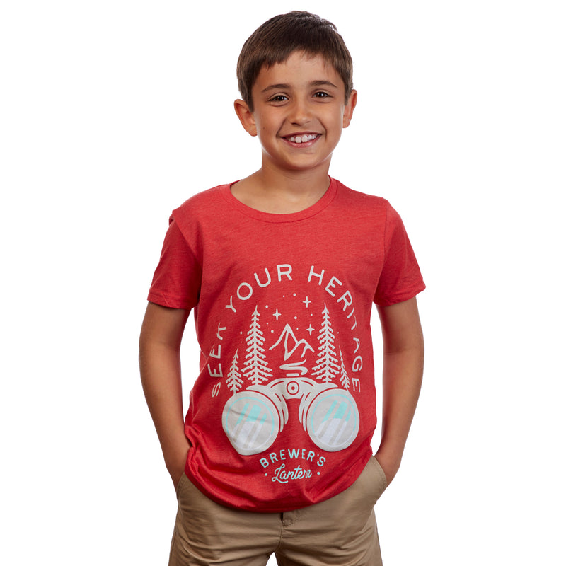Youth Seek Your Heritage Short Sleeve T-Shirt - Red Lantern