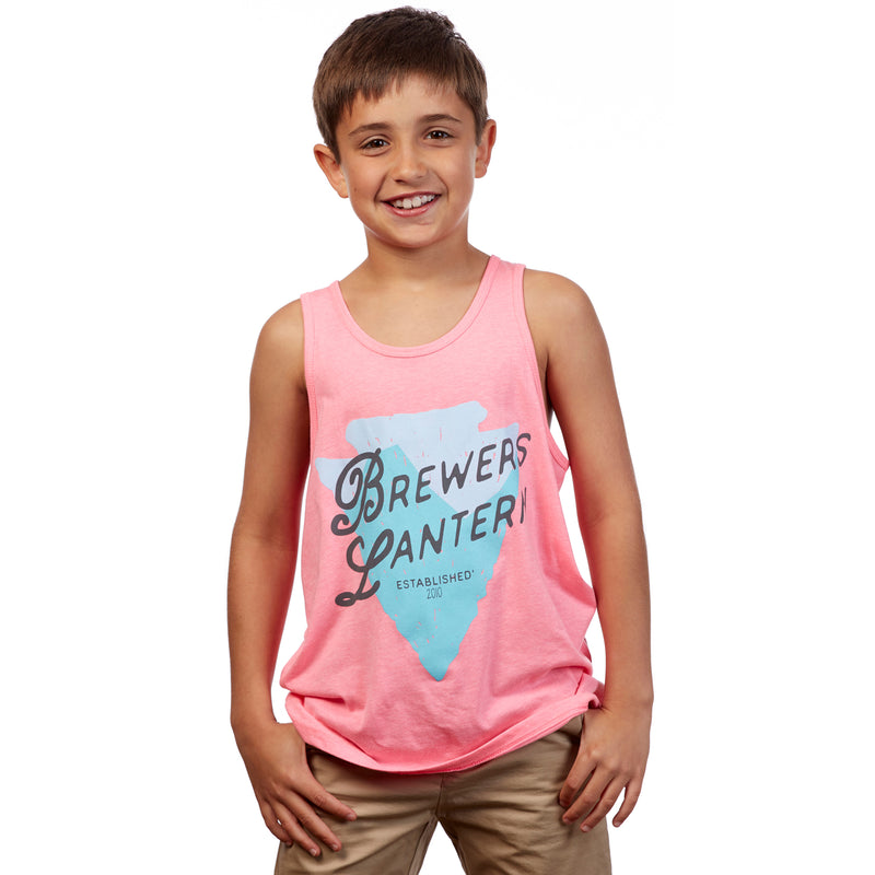 Youth Travel Treasure Tank Top - Raspberry Pink