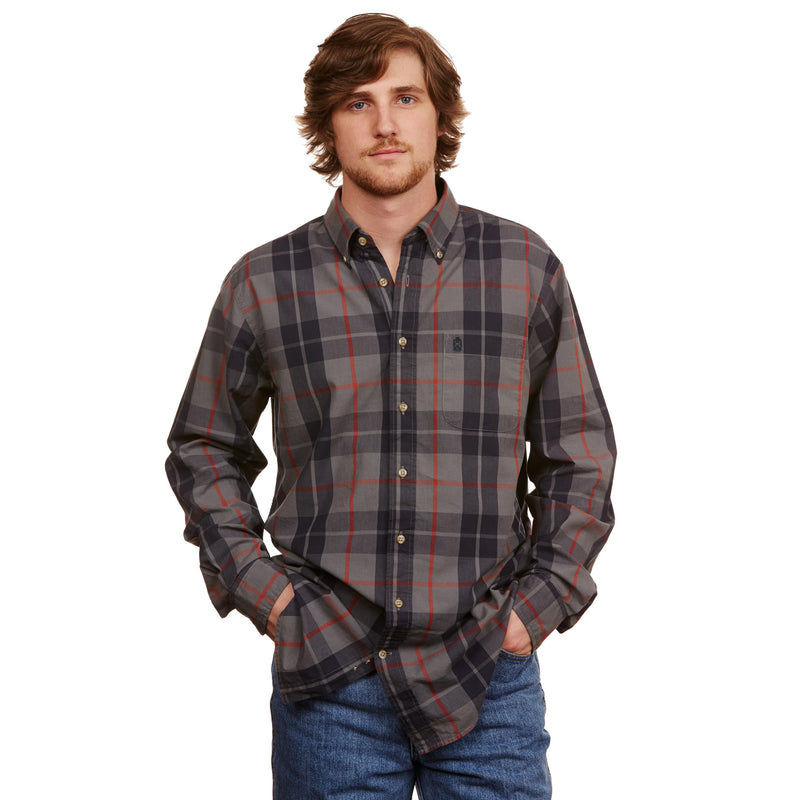 Plantation Plaid Button Down - Ole Blue