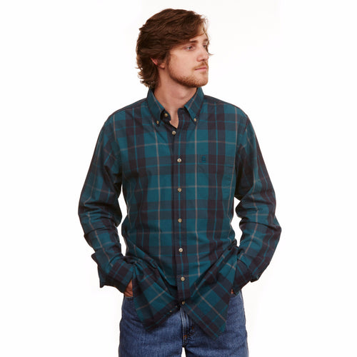 Plantation Plaid Button Down - Highlands Green