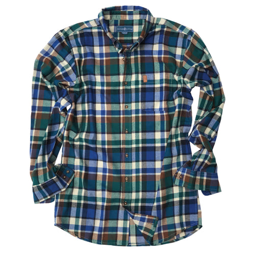 Pine Street Plaid Flannel Button Down - Ivy Green