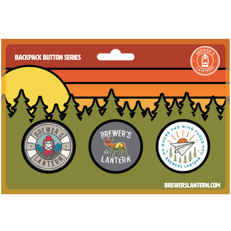 Backpack Buttons | Brewer's Lantern