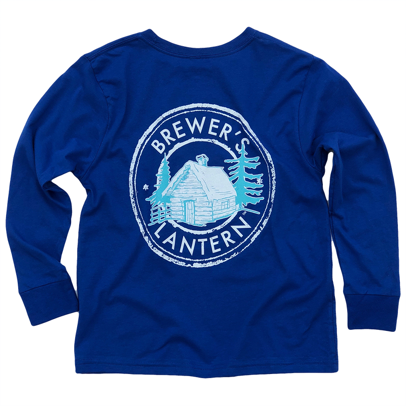 Youth Brewer's Cabin Long Sleeve T-Shirt - Creek Blue