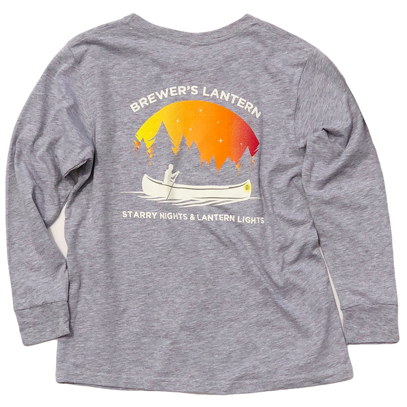 Youth Starry Nights Long Sleeve T-Shirt - Woodsmoke Gray