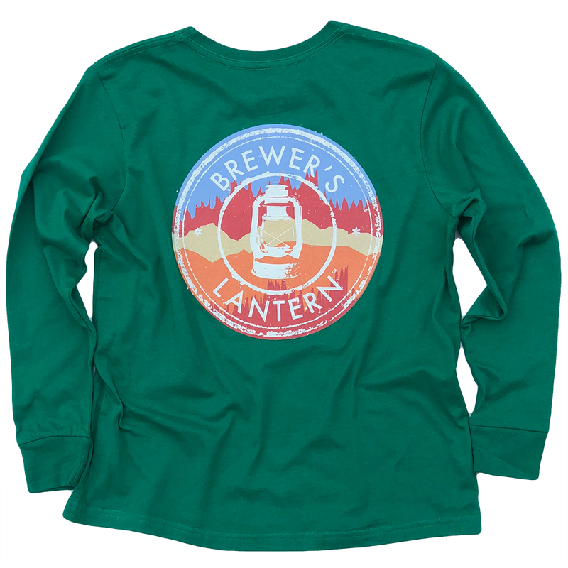 Youth Landscape Logo Long Sleeve T-Shirt - Ivy Green