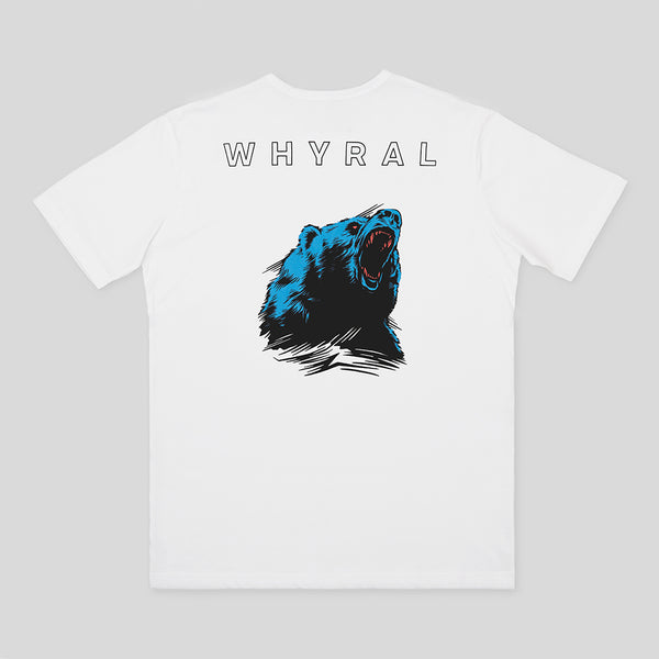 WHYRAL - ROAR T-SHIRT - WHITE