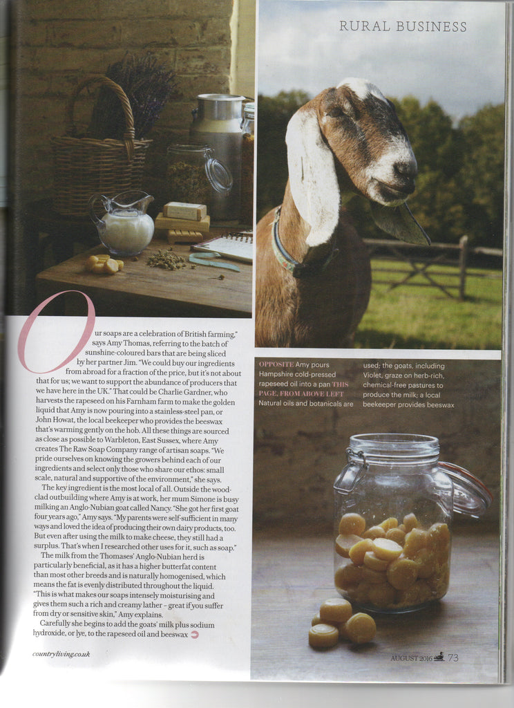 Country Living August 2016 - The Raw Soap Company (2)