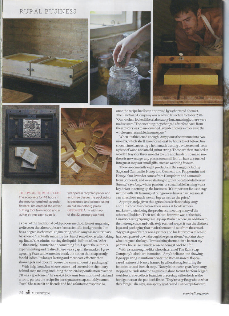 Country Living August 2016 - The Raw Soap Company (3)