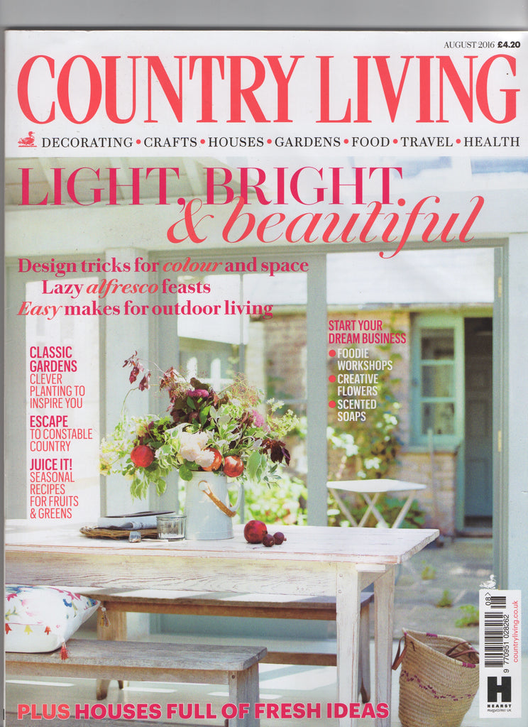 Country Living August 2016 - The Raw Soap Company (Cover)