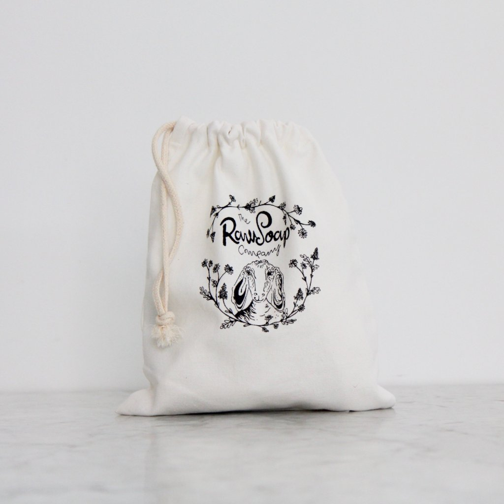 Organic Cotton Drawstring Wash Bag