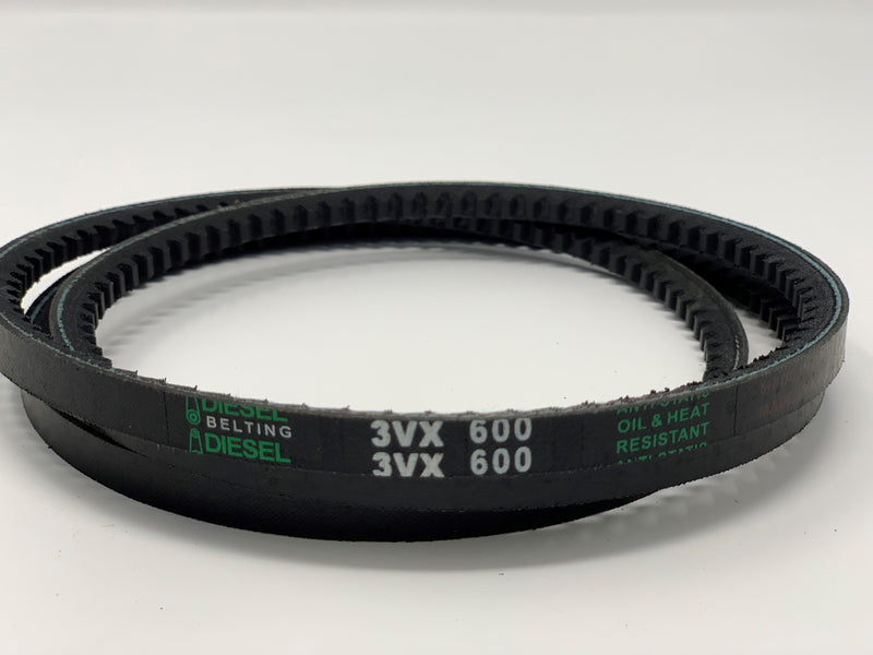 Dayton 2L392 Replacement V Belt 3VX600 Cogged  3/8 x 60in Outside Circumference