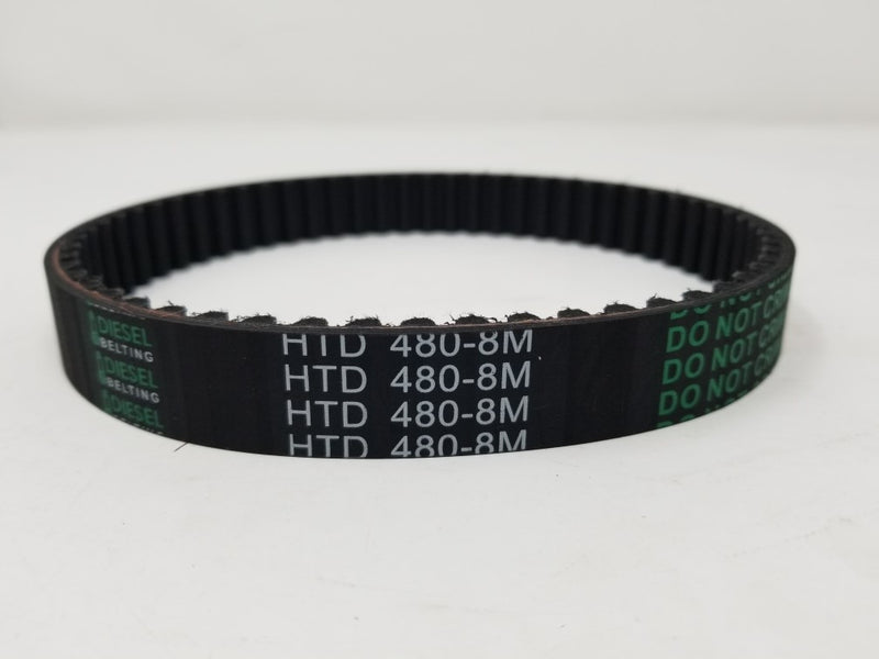 480-8M-20 Timing Belt 8mm Pitch, 20mm Wide, 480mm Pitch Length, 60 Teeth