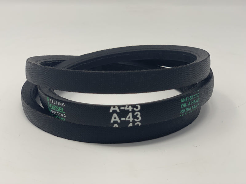 Dayton 3X699 Replacement V Belt A43 Classic Wrapped  1/2 x 45in Outside Circumference