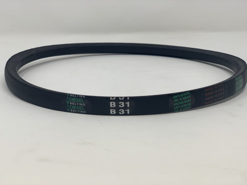 "B31 V-Belt 21/32"" x 34"" Outside Circumference Classic Wrapped Diesel Belting"