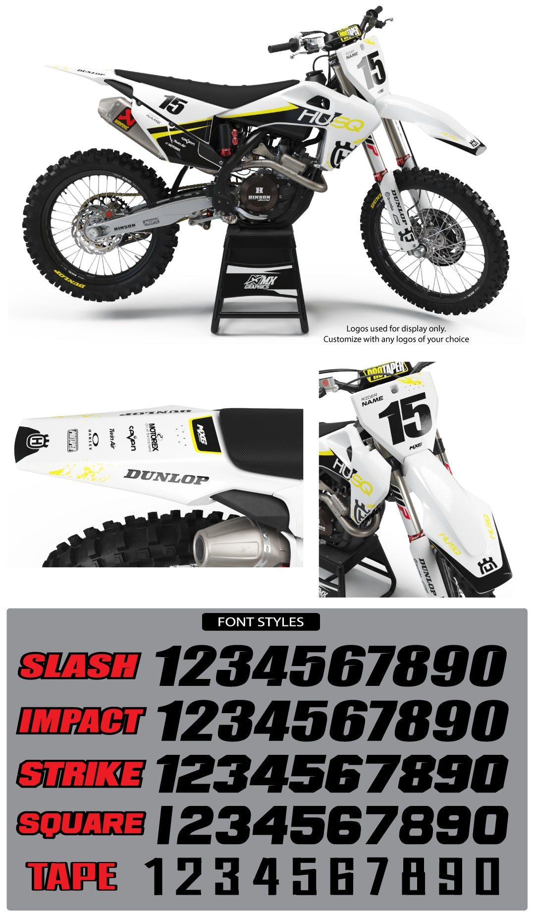 Husqvarna MX 29 White Graphic Kit