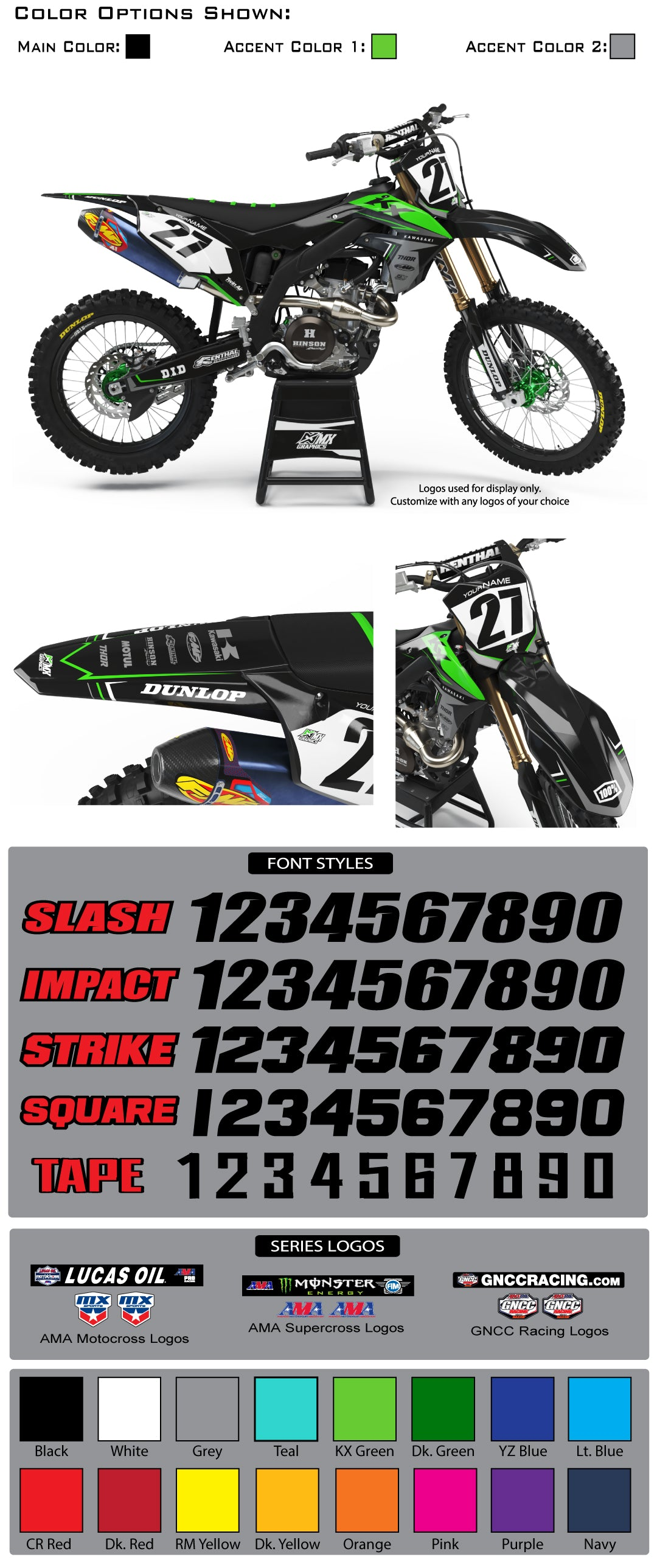 Kawasaki MX22 Graphic Kit