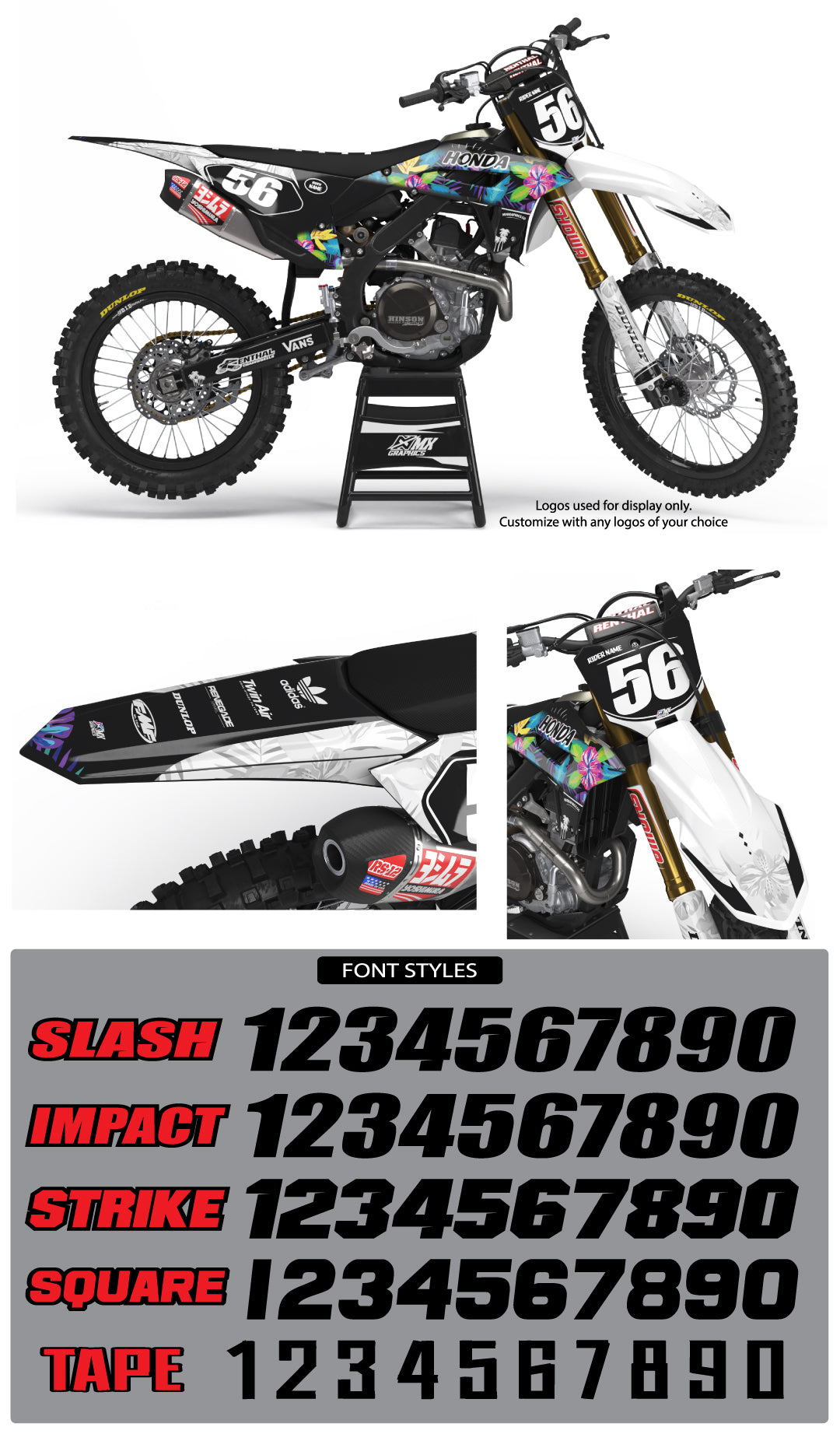 Aloha Graphic Kit for Honda's